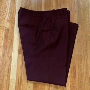 Judith & Charles Burgundy Wool Cropped Pants Sz 8